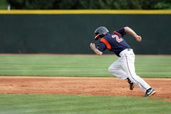 Going For It (Fred_T) Tags: canon rebel virginia baseball stadium helmet runner universityofvirginia uva vt blacksburg virginiatech hokies cavaliers collegebaseball stolenbase virginiapolytechnicinstituteandstateuniversity baserunner xti englishfield keithwerman