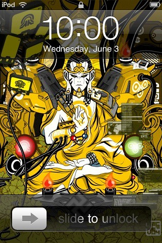 iPod Touch Lock Screen. tech-Buddha. Unfortunately I cannot remember the