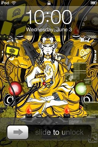 iPod Touch Lock Screen. tech-Buddha. Unfortunately I cannot remember the