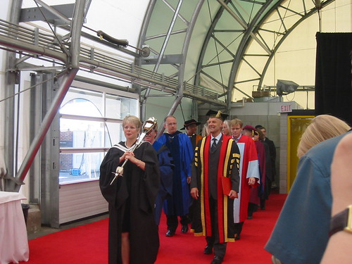 "Vicki at Convocations; As University Secretary, as part of support for the University of Guelph's Board of Governors and Senate, I usually help ""Beadle"" at convocations."