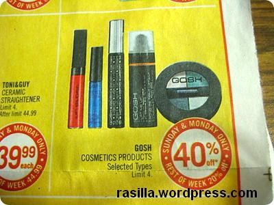 GOSH Cosmetics @ SDM