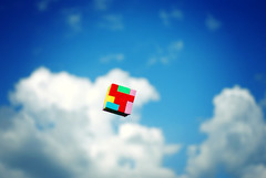 Color Cube (Proleshi) Tags: sky color colour clouds skyscape square colorful box vivid bluesky puzzle cube multicolored rubix colorandcolors colorcube rainbowcolors summersky colorfulstuff flyingbox colourfulstuff flyingcube