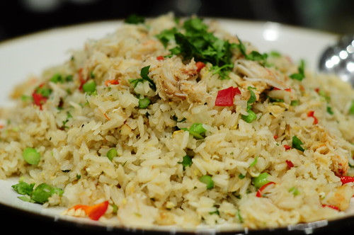 Crabmeat Fried Rice with Thai Asparagus & Flying Fish Roe
