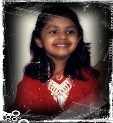 Muskan - The Birthday Girl ([ RAFIQ ]) Tags: birthday wallpaper portrait girl beautiful smile happy photo child image background jewelry saudi arabia riyadh miskan rafiq riyad digitalcameraclub photoscape sonya200dslr rafiqsa af1870mmdtf3556zoomlens