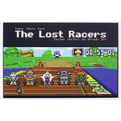 The Lost Racers - Collectable Card (Arcade Art) Tags: show nerd car vintage beads tv team geek nintendo sprite mario gaming gamer kart hama perler snes racer