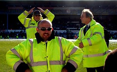 Steward do the Ayatollah! (joncandy) Tags: park city game wales club photo football championship image stadium soccer cymru cardiff picture jacket final caerdydd bluebird ipswich bluebirds steward ayatollah pldroed ninian ccfc ninianpark cardiffcity joncandy