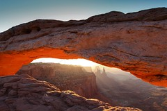 sunrise at mesa arch.jpg (natural born hikers) Tags: sunrise utah arch desert arches canyonlandsnationalpark airporttower mesaarch washerwomanarch wwwnaturalbornhikerscom wwwnbhtravelcom americanw09
