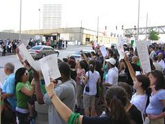 DSCN7075 (Hiloxy) Tags: atlanta georgia election downtown iran rally protest demonstration mullah cnncenter khamenei ahmadinejad iranelection riggedelection humanrightsviolation thegreenmovement mousavi whereismyvote iranianregime