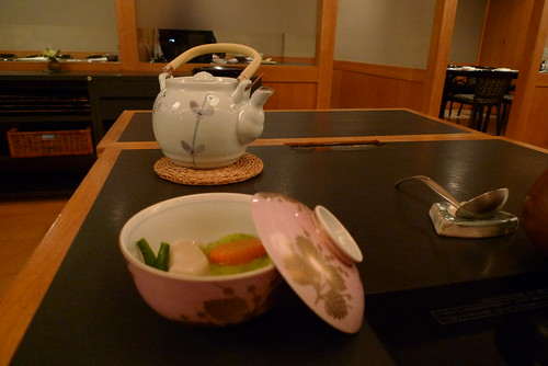 Appetizer and tea pot