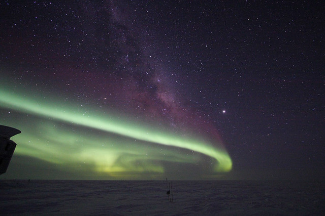 Aurora Australis at the South Pole (2008)