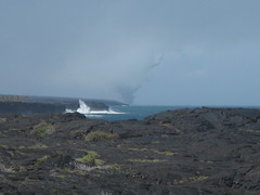 lava flowing into the ocean from the other side (bottom of Chain of Craters road)