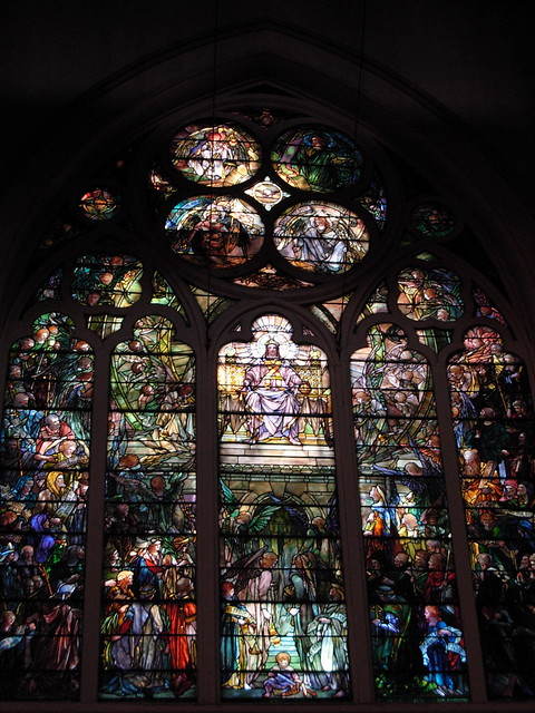 Stained glass in Christ Church Episcopal