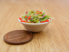 Vegetable Salad (Shay Aaron) Tags: food scale kitchen israel miniature salad mediterranean handmade aaron middleeast fake balls mini vegetable fimo arab tiny shay oliveoil falafel 12th 112  hummus pinenuts dollhouse petit pita sesamepaste tahini     tehina            shayaaron