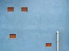 (Delay Tactics) Tags: blue wall eyes sheffield pipe minimal explore vents haphazartbalanceoffbalance