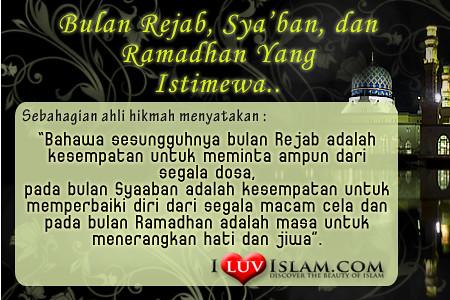 Testi I Luv Islam, Bulan Rejab