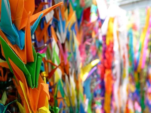 Paper Cranes in Hiroshima