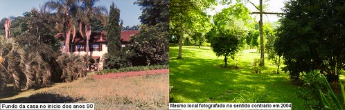 Fundos da casa 1990 e 2004