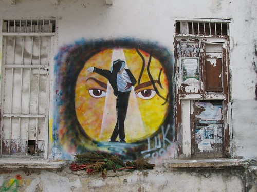 Michael Jackson Graffiti Memorial in Cartagena