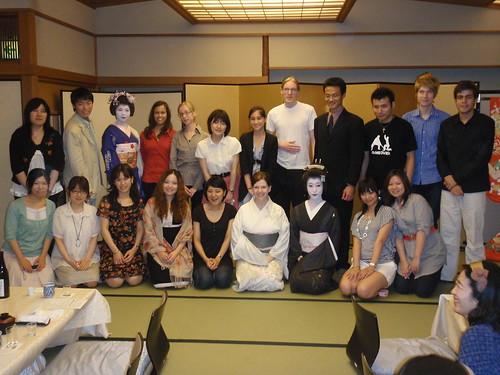Grupo en restaurante de Geisha