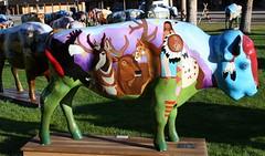 "Part of the ""Where the Painted Buffalo Roam"" exhibit, West Yellowstone, Montana (IMG_1582a) (Alaskan Dude) Tags: travel art buffalo montana wildlife westyellowstone paintedbuffalo wherethepaintedbuffaloroam"