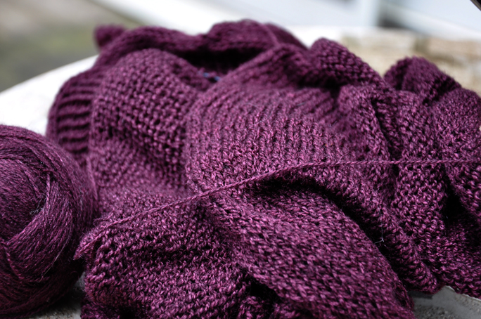whiper cardigan close up