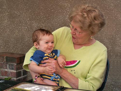 Grandma holds Finn