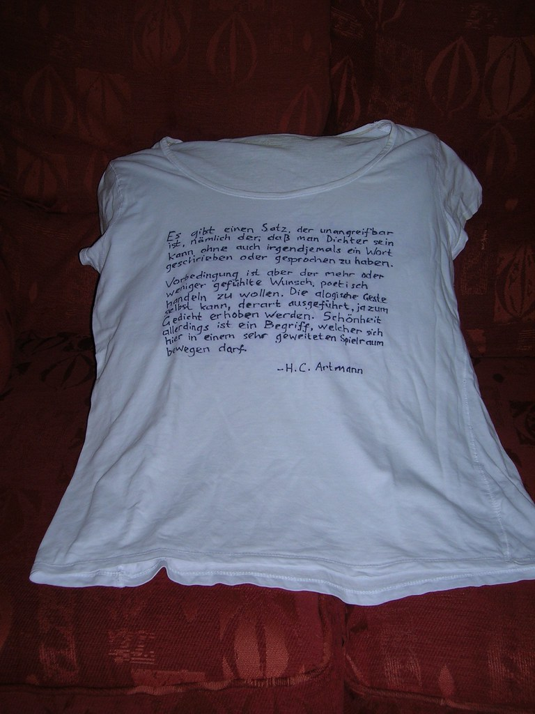 Further adventures of the Wet Day Craft Club: my customised T-shirt