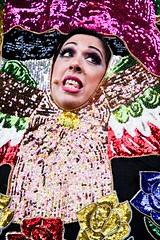 Mexican diva (Rixen) Tags: show flowers mexico drag shiny eyelashes singing hole mexican sing microphone shining multicolour headinhole outgameskoncertcopenhagenoutgamesgaykoncertdragcanon40d1785mmisusmcolourful