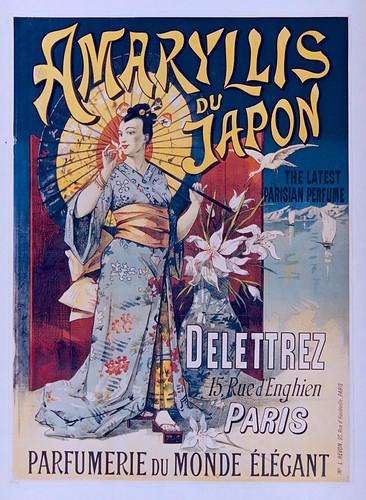 010- Affiche de publicidad del perfume Amaryllis del Japon-1891