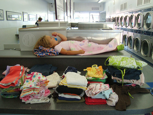 laundry time overlapped into nap time a little bit