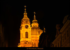 St Nichloas at Night, Prague (szeke) Tags: night nightlights prague praha praga czechrepublic hradany castledistrict saintnicholaschurch eskrepublika hradany chramsvmikulase qualitypixels eskrepublika