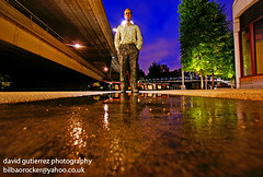 The Man by the London Canal... (davidgutierrez.co.uk) Tags: city blue light urban sculpture man color london architecture night dark spectacular geotagged boat canal photo arquitectura cityscape darkness image dusk walk sony centre perspective cities cityscapes center front basin explore nighttime 350 hour page londres nights paddington sensational metropolis bluehour alpha residential frontpage londra impressive waterside dt nightfall municipality the centrallondon publicspaces in cites f4556 1118mm sonyalphadt1118mmf4556 sony350dslra350