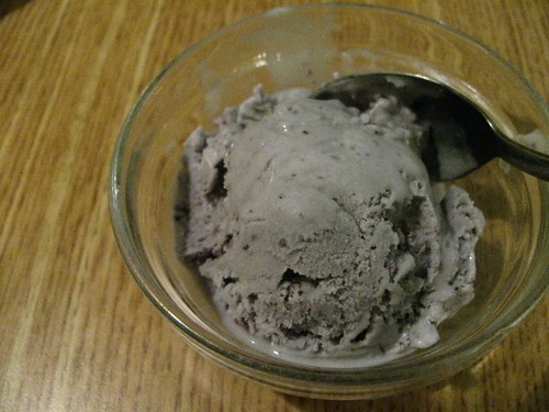 Blueberry ice cream @ Restaurant des Nouilles