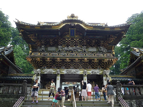 Detall porta tomba, temple Nikko