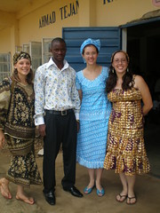 ownership ceremony, Katies and Chelsea with Banie, DCI project officer