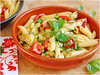 Pasta Primavera (Soupflower's Blog) Tags: urban primavera cooking recipe 50mm blog nikon pasta basil peppers zucchini tomatos paprika tomaten basilicum mozzarella nudeln basilikum rezept cocktailtomaten d80 soupflower nudelpfanne wwwsoupflowercomblog