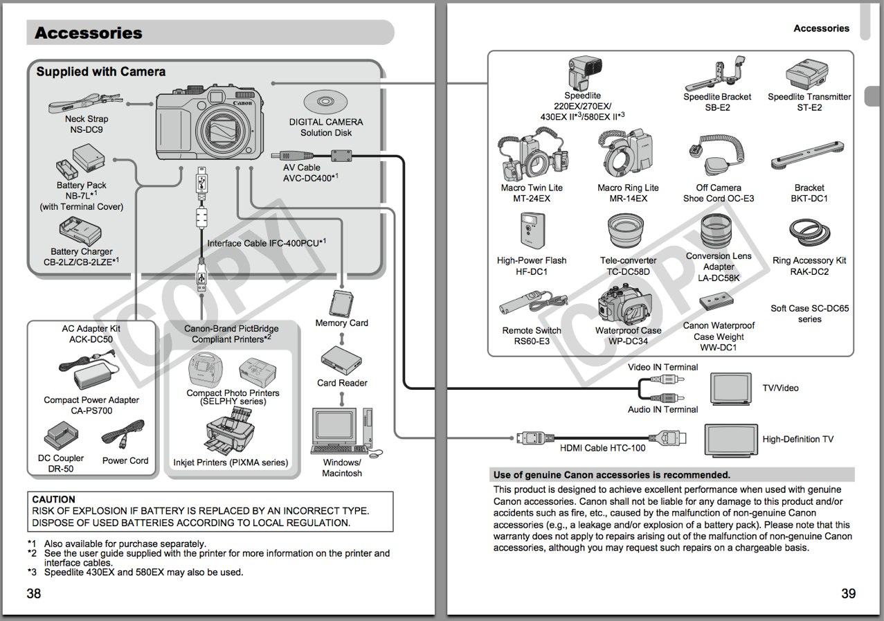 Canon G11 Instruction Manual Pdf