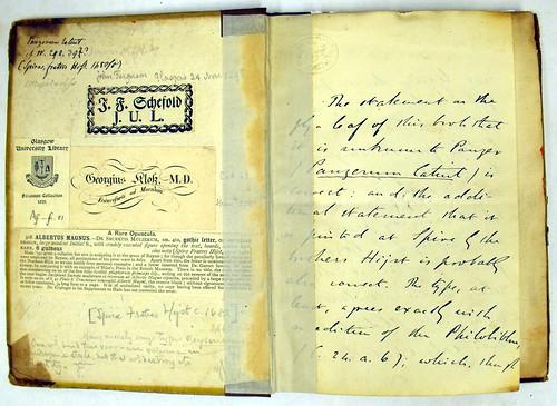Endpapers from Albertus, Magnus [pseudo-]: De secretis mulierum et virorum