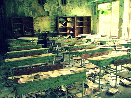 Abandoned school in Pripyat' / Chernobyl