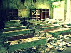 Abandoned school in Pripyat' / Chernobyl, Ukraine (Daniel Kliza) Tags: plant danger radio tour power evacuation radiation nuclear ukraine disaster radioactive powerplant 1986 atomic kiev zona zone explosive ussr iaea chernobyl geigercounter exclusion geiger pripyat exclusionzone
