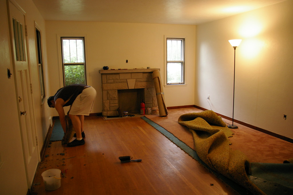 removing the carpeting