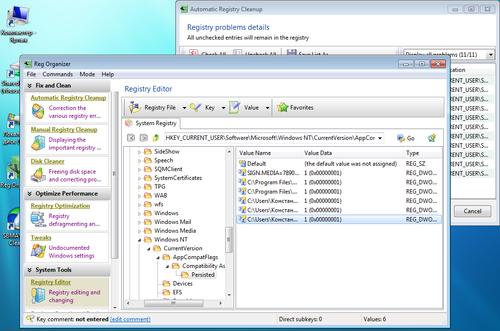Reg Organizer 5 Registry Editor