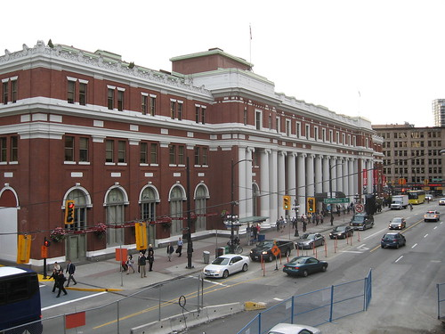 My favourite building in Vancouver - now the Waterfront Station for Skytrain