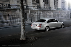 S-Class - Madeleine (Amaury AML) Tags: auto street light sun paris france reflection art cars car speed germany mercedes benz photo wheels s automotive voiture class mercedesbenz madeleine rue luxury supercar luxe exotics supercars amaury sclass allemande classs laparra