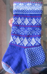 erin's christmas stocking 1 (temari_stasia) Tags: christmas holiday wool stockings knitting knit stocking knitted stranded shetland scandinavian harrisville colorwork christmasstocking colourwork harrisvilleshetland