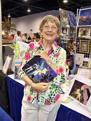 Margaret Kerry, model for Tinker Bell, at the D23 Expo