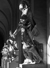 Kings in the sun (Pawel Sawicki) Tags: light bw sculpture sun paris france blackwhite king palace versailles soce wiato rzeba pary paac francja czarnobiae wersal pawesawicki krlowie