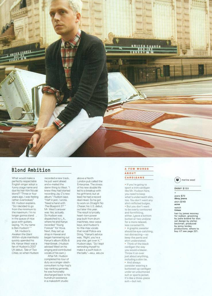 cardigan men mr hudson fashion music GQ