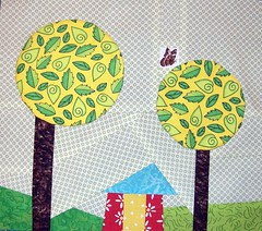Bee Addicted - September (Marblesbestfriend) Tags: quiltblock wonkyhouse quiltingbee