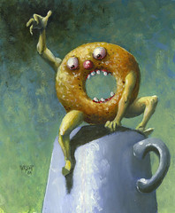 The Breakfast Revolt (matthewkirscht) Tags: art breakfast painting dessert dangerous matthew surrealism pop donut oil imagist kirscht